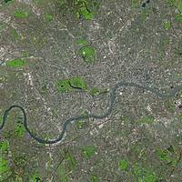 London (United Kingdom) : Satellite Image