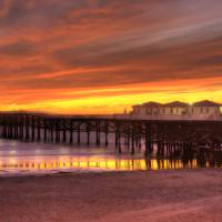 Sunset at the Pier Art Prints & Posters by Michael V