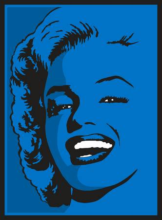 Blue Marilyn Monroe by Earl Ferguson