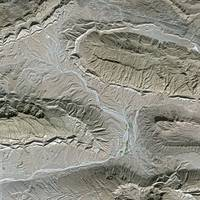 Zagros Mountains (Iran) : Satellite image