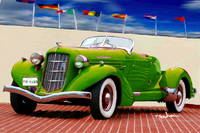 1935 Green Auburn Model 851