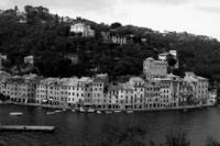 Portofino Italy black and white