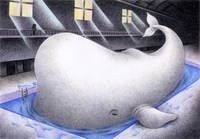 Science fiction art - Whale that has dream