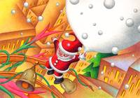 Christmas art - Coming Father Christmas
