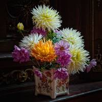 Still Life - Fresh Flowers in Vase, Church, Burgun