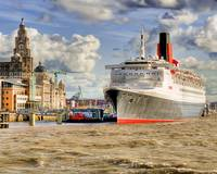 QE2 visiting Liverpool