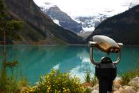 Binoculars at Lake Louise