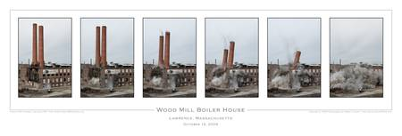 Wood Mill Smokestacks by robertlussier