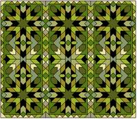 Morocco 1 green gold black