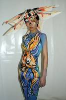 Goldfish body paint Shanghai