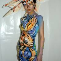 Goldfish body paint Shanghai Art Prints & Posters by CatsCreationsFacenBodyArt