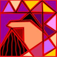 Digital painting of triangles design