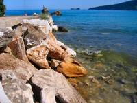 Thassos . Golden Beach.