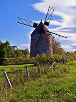 Windmill on Isle De' Coudres, Quebec, Canada