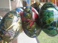Bali Wooden Eggs Artwork