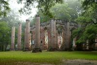 Misty Morning Sheldon Church Ruins