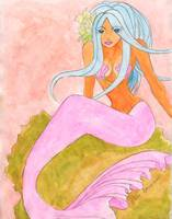 Mermaid Azura on the rocks