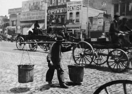 Carrying Supplies, San Francisco, c1870