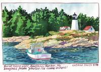 Burnt Island Light, Boothbay Harbor, Maine