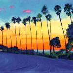 California Sunset La Jolla California by RD Riccoboni