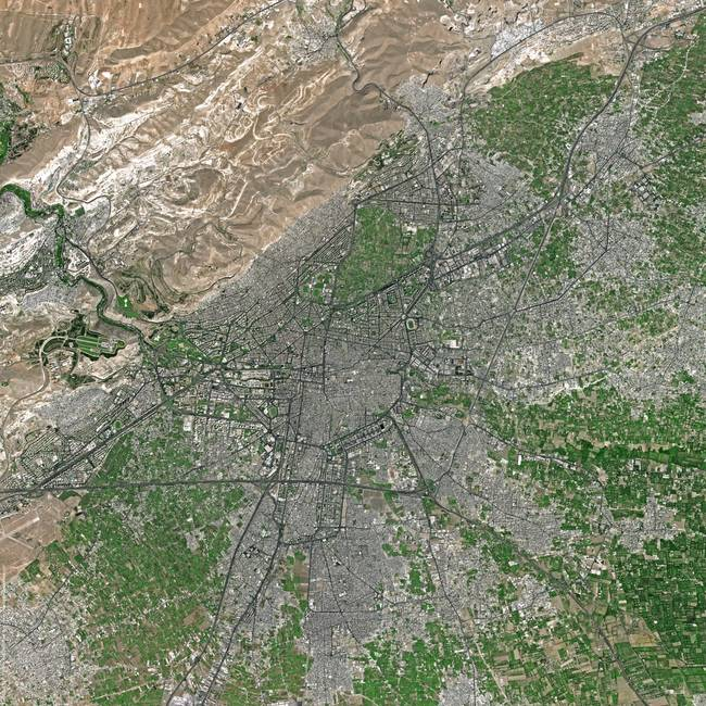 Damascus )Syria( : Satellite Image