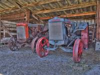 Tractors at the Fielding Garr Ranch