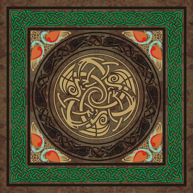 Celtic Pattern Canvas Print / Canvas Art by Ireland Calling   Celtic Fine Art Prints