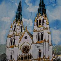 """St John the Baptist Church christian art print"" by derekmccrea"