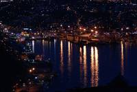 St. John's harbour at night