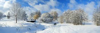 Panoramic after Winter Storm of the Arboretum, Ott