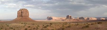 Stormy Sunset Monument Valley Panorama