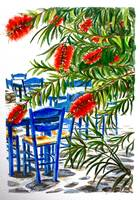 'Bottle Brush & Blue'