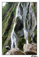 Woman at Powerscourt Waterfall