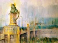 Frog Bridge of Willimantic by Sara Fraser