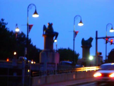 Willimantic Frog Bridge at Dusk