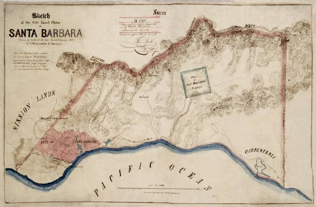 Santa Barbara land claim 1853 final