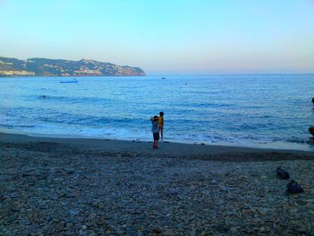 Two Boys by the Sea