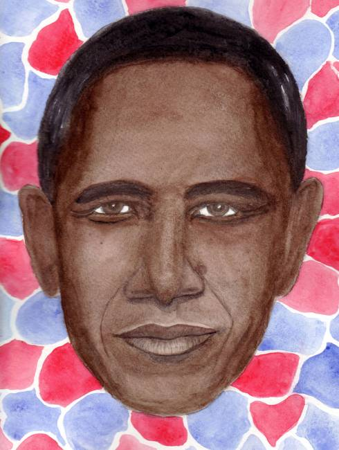 Obama in Red, White, and Blue