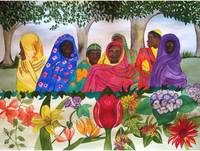 Women of Sudan by Flowers
