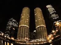 Marina City, night
