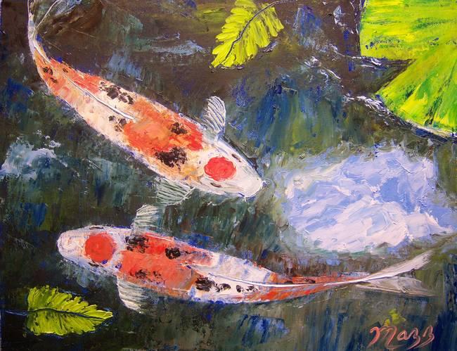 Taisho Sanke Koi Painting