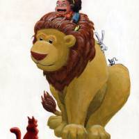 A Girl and Her Lion Art Prints & Posters by McNevin Hayes