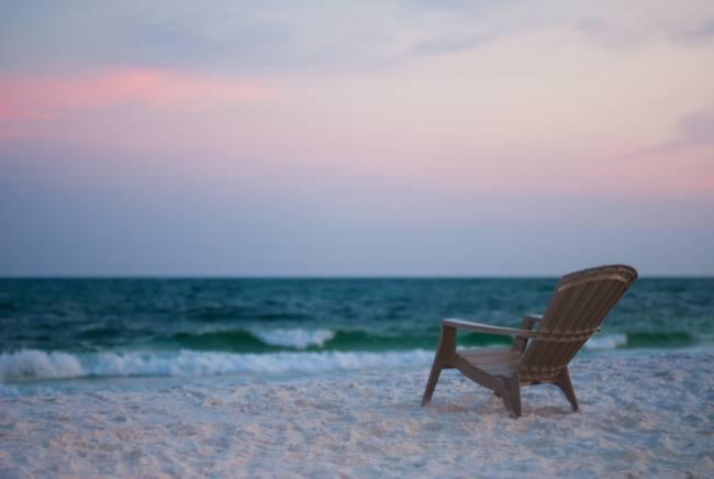 Adirondack Chair on Beach by angbrinker
