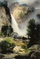 Cascade Falls Yosemite by Thomas Moran