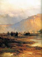 Cliffs on the Green River Detail (1874) by Moran