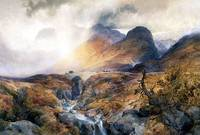 Pass at Glencoe Scotland (1882) by Thomas Moran