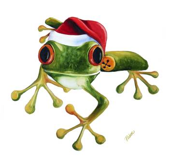 Tree Frog Christmas By Peg Lozier