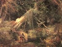 Slaves Escaping Through the Swamp (1862) by Moran