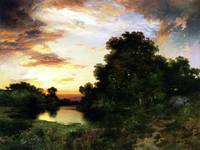 Sunset on Long Island (1901) by Thomas Moran