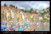 the Menton's beach-france
